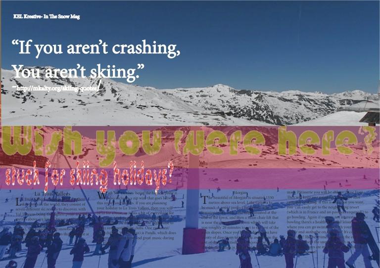 Skiing Magazine Article Kristian Chateau